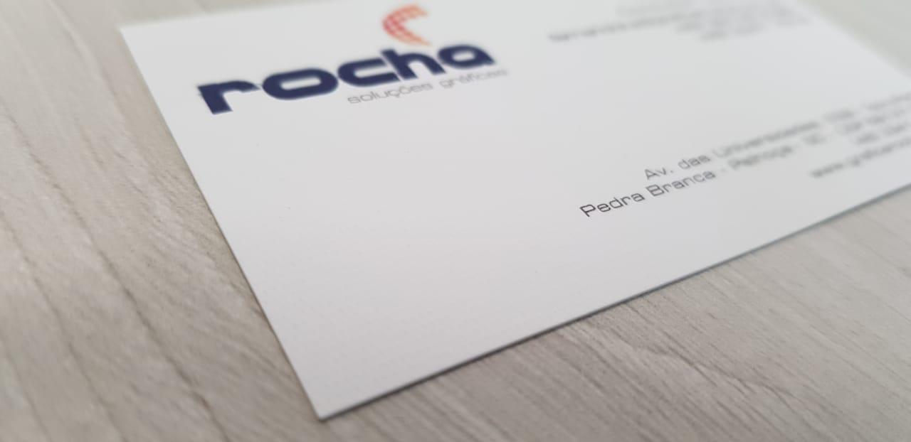 Detalhe do cartão com papel especial